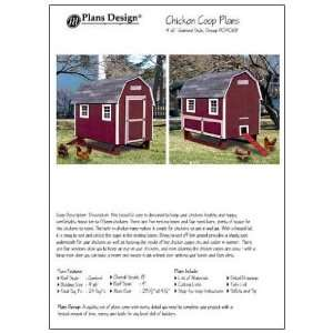 Chicken Coop / House Plans, Gambrel / Barn Roof Style (How to build