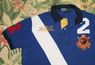 Mens Polo RALPH LAUREN Royal Blue RUGBY Shirt Medium M