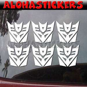 inch TRANSFORMERS DECEPTICON Car Decal Sticker M124S