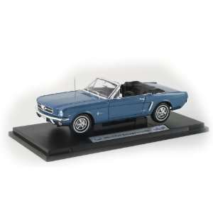 118 1964 Ford Mustang Convertible   Teal Blue Toys