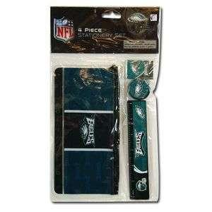 PHILADELPHIA EAGLES Logo NFL 4 Piece Stationery Set in Bag Great for