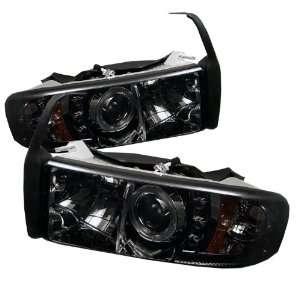 2001 Dodge Ram Sonar LED Smoke Halo Projector Headlights Automotive