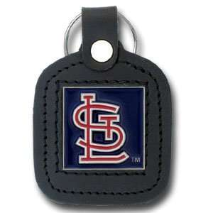 St. Louis Cardinals Square MLB Leather Key Chain Sports