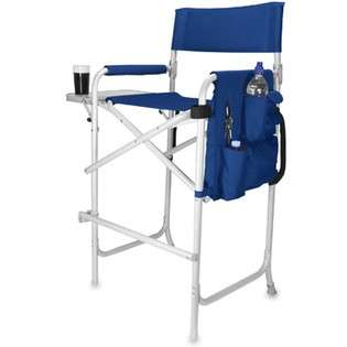 Picnic Time Celebrity Portable Folding Director Chair Navy   #791 00