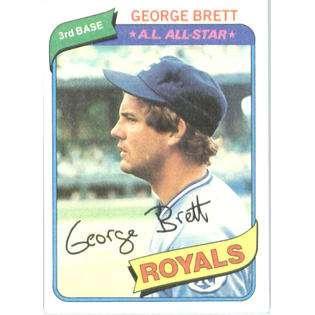 1980 Topps # 450 George Brett Kansas City Royals Baseball Card  Topps