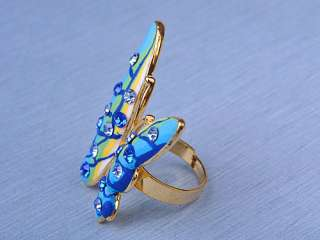 Capri Sun Blue Color Crystal Rhinestone Fimo Butterfly Bug Fashion