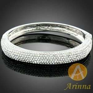 ARINNA swarovski crystal white gold GP bangle Bracelet