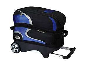 Hammer Black / Silver / Blue 2 Two Ball Roller Bowling Bag