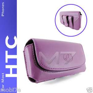 LEATHER POUCH CASE FOR MOST HTC PHONES COVER WITH BELT CLIP LOOP