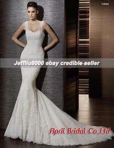 Cheap Sweetheart Mermaid Lace Bridal Gown/Wedding Dress