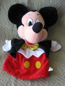 Mattel Mickey Mouse Plush Hand Puppet 1993 Walt Disney