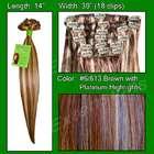 Platinum Highlights 14 Inch 100 Percent Human Hair Straight No Damage