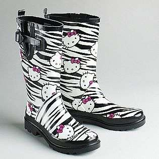 Multi Face Zebra Print Rain Boots  Hello Kitty Shoes Womens Boots