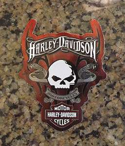 New Harley Davidson Licensed Decal Biker Motorcycle Tank Sticker Skull