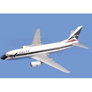Boeing 737 300,  Delta Airlines Aircraft Model Mahogany Display Model