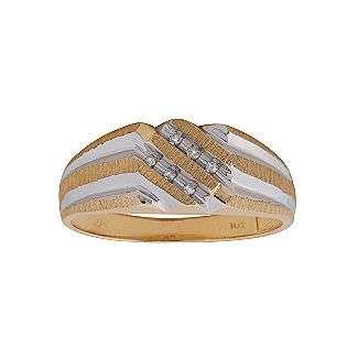 Mens Diamond Ring. 10K Yellow Gold  Jewelry Mens Jewelry Rings