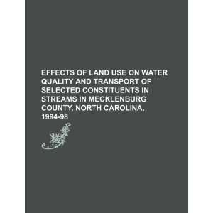 Effects of land use on water quality and transport of