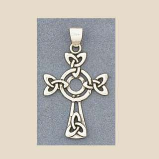 Sterling Silver Celtic Triquetra Triad Cross Pendant