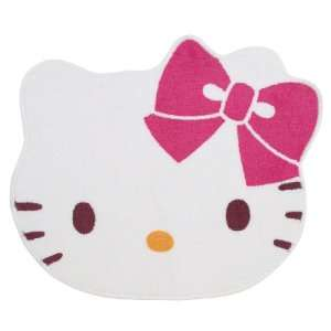 Hello Kitty Argyle   Die Cut Face Rug / Bath Mat
