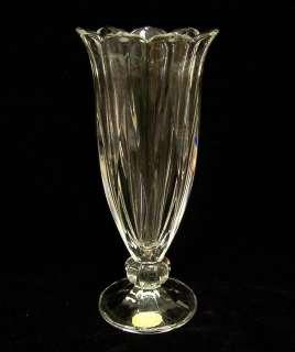 VINTAGE ENESCO LEAD CRYSTAL ART GLASS BUD VASE GERMANY