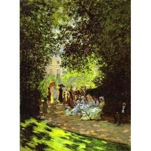 Claude Monet Monceau Park  Art Reproduction Oil Painting