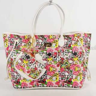 Hello Kitty Leather like Shoulder Tote Hand Bag EIGEMK