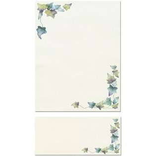 Leaf Border Letterhead Sheets and 100 Matching Envelopes at