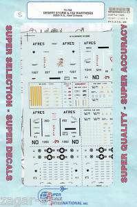 72 SuperScale Decals Desert Storm A 10A Warthog 706th TFS 926th TFG