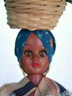 Vintage 1940s Plastic Virga doll African American