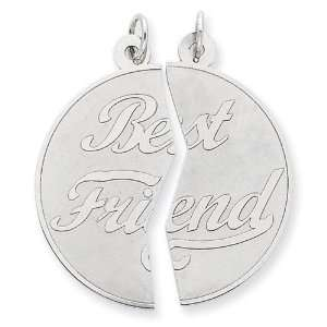 Sterling Silver 2 piece Best Friends Disc Charm.two 18