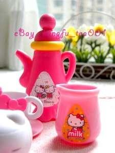 Sanrio Hello Kitty Miniature Tea Time Set Cup Teapot Plate Milk Pot