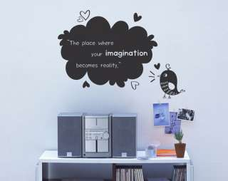 IMAGINATION DIY DECORATIVE WALL STICKER VINYL ART DECAL