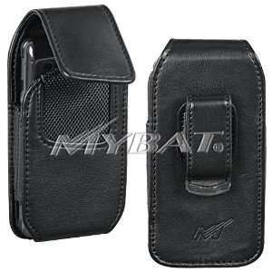 Black High Quality Leather Vertical Pouch Cover Carry Case Holster