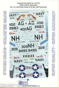 48 SuperScale Decals Skyhawk A 4B VA 86 A 4C VA 113