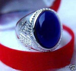 Exquisite Vogue Mens blue Opal Rings size 8 9 11 12