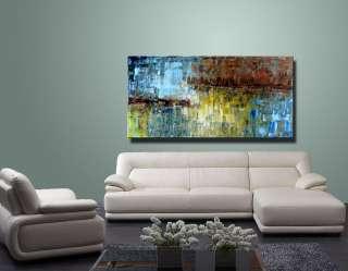 Original Abstract Landscape Palette Knife Art Deco Oil Painting CX948