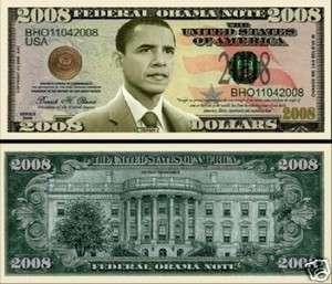 President Barack Obama 2008 Dollar Bill (2/$1.00)