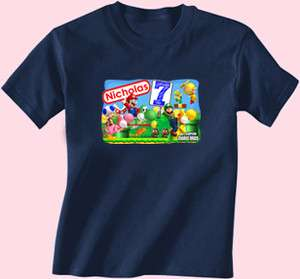 New Super Mario Bros Brothers Luigi Birthday Shirt TShirt Personalized