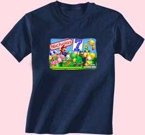 New Super Mario Bros Brothers Luigi Birthday Shirt TShirt Personalized