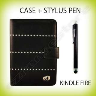 Case Cover Jacket + Stylus Pen for  Kindle Fire Tablet