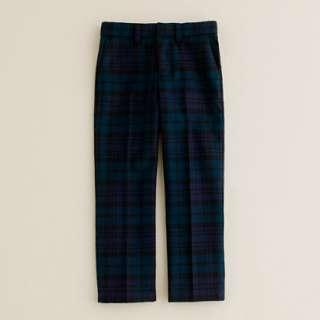 Boys tuxedo pant in Black Watch tartan   suiting pants   Boys pants
