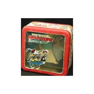 Mickey Mouse Square with Window 3d Tin Box   Mickey Mouse