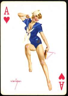 53 VARGAS VANITIES PIN UP PLAYING CARDS IN ORIGINAL BOX ALL DIFFERENT