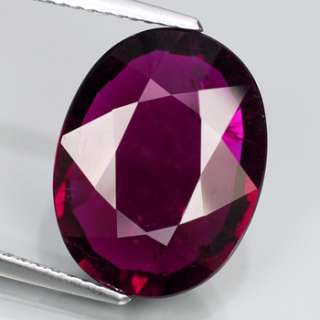 Natural Gem 7.48ct 15.5x12mm Oval Intense Pink RUBELLITE TOURMALINE