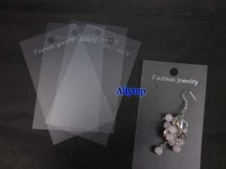 Jewelry Dangle Earring Clear Plastic Hanging Card 50pcs