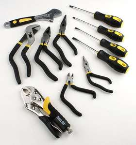 TRADESPRO 11 PC PISTOL GRIP PLIERS AND SCREWDRIVER SET NEW!