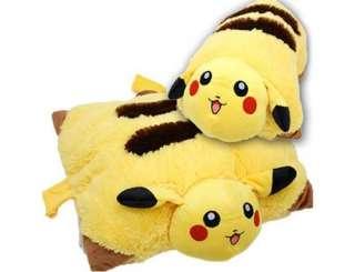 size Pokemon Pikachu cushion Transforming PILLOW Soft Plush Toy