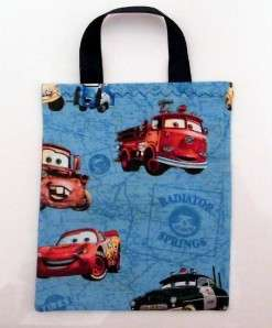 Pixar CARS 6 Birthday Party Favor Fabric Bags Blue