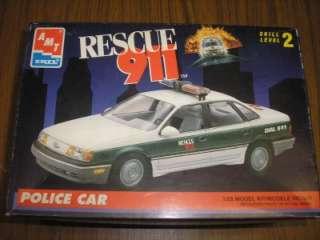 AMT ERTL RESCUE 911 POLICE CAR MODEL KIT UNBUILT 1/25