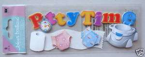 Baby18 JOLEES 3D Stickers TODDLER POTTY TRAINING TIME